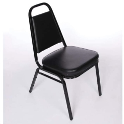 Rental store for Chair Stack Black Padded in Omaha NE