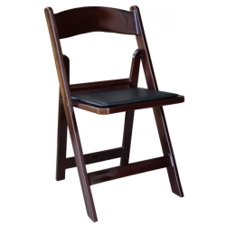 Rental store for Chair Folding Wood RESIN Mahogany in Omaha NE